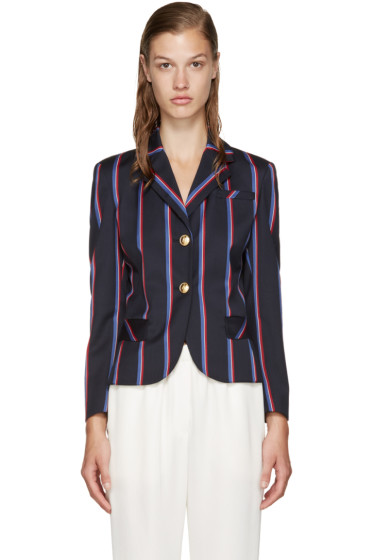Altuzarra - Navy Striped Dandridge Blazer