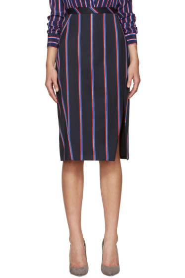 Altuzarra - Navy Striped Monroe Skirt