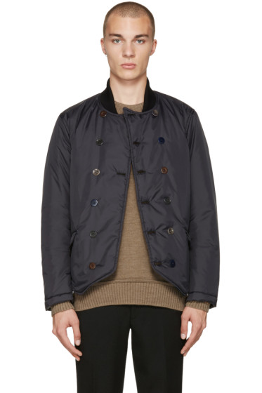 Undercover - Black Double-Breasted Bomber Jacket
