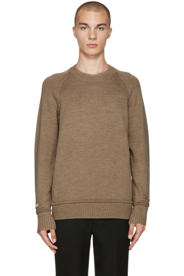 Undercover - Tan Wool Zip Sweater