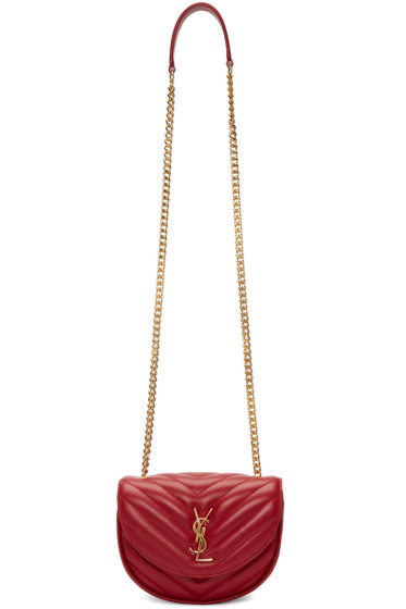 Saint Laurent - Red Small Monogram Chain Bag