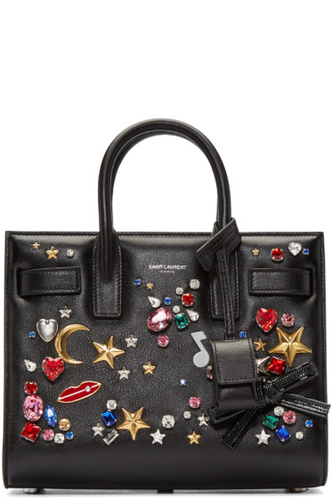 Saint Laurent - Black Studded Nano Sac de Jour Tote