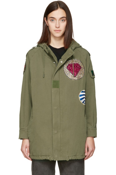 Saint Laurent - Khaki Patch Military Parka