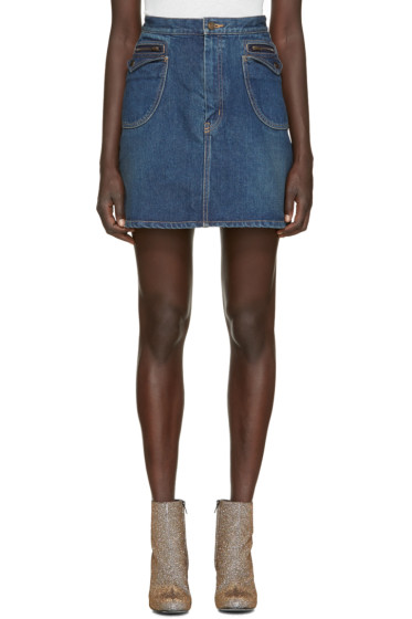 Saint Laurent - Blue Denim Miniskirt