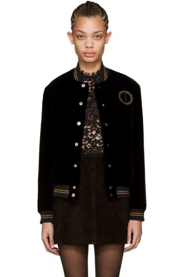Saint Laurent - Black Palladium Teddy Bomber Jacket