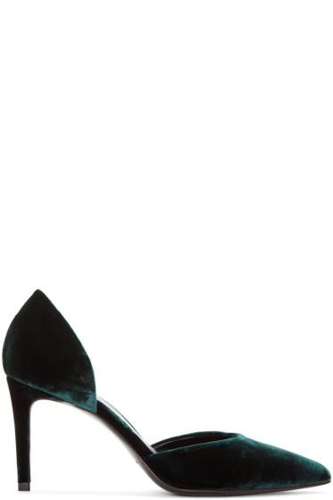 Saint Laurent - Green Velvet Paris Heels