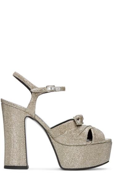 Saint Laurent - Silver Candy Sandals