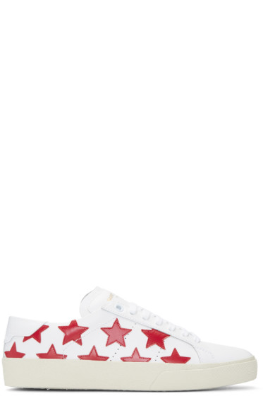 Saint Laurent - White & Red Stars Court Classic Sneakers