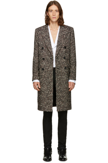Saint Laurent - Tricolor Double-Breasted Wool Coat