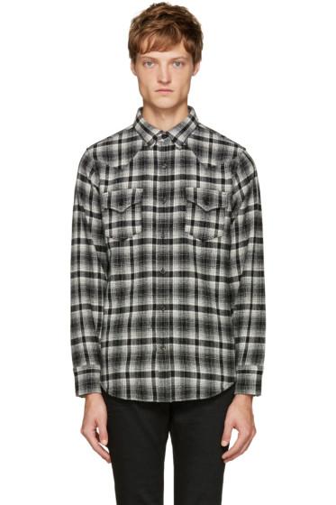 Saint Laurent - Black & White Plaid Shirt