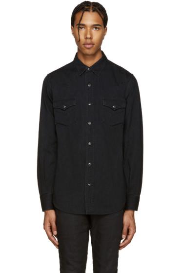Saint Laurent - Black Denim Shirt