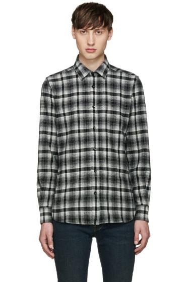 Saint Laurent - White & Black Flannel Shirt