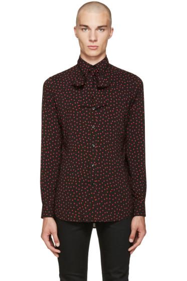 Saint Laurent - Black 70's Polka Dot Shirt