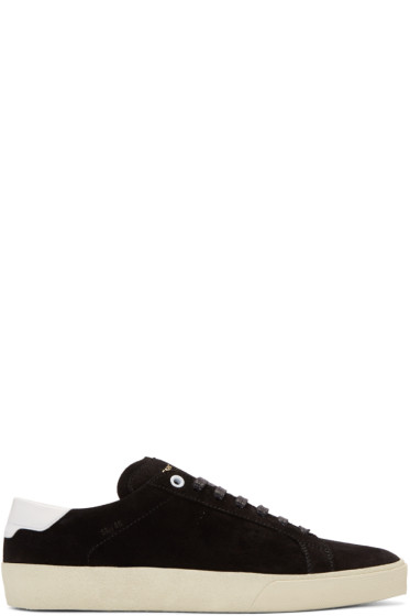 Saint Laurent - Black Suede Court Classic Sneakers
