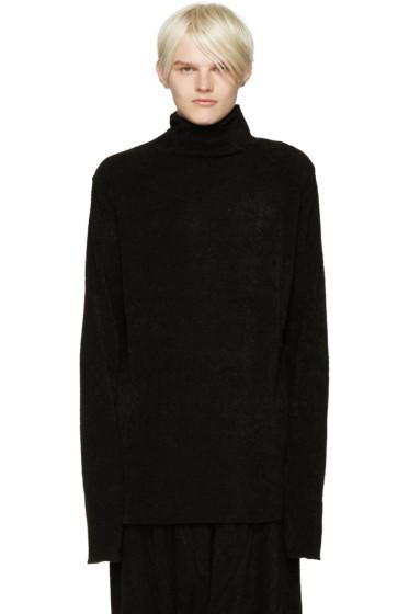 Julius - Black Bouclé Sweater