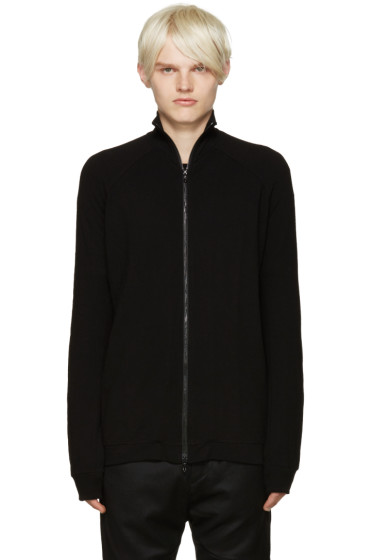 Julius - Black Zip-Up Sweater