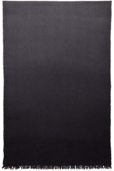 PS by Paul Smith - Black Dip-Dye Herringbone Sarf