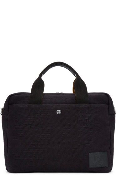 PS by Paul Smith - Black Canvas Folio Briefcase