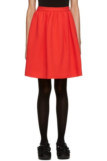 MSGM - Red Circle Miniskirt