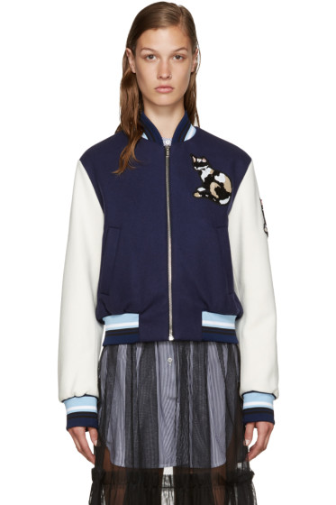 MSGM - Navy Cat Bomber Jacket