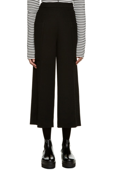MSGM - Black Wide-Leg Pocket Trousers