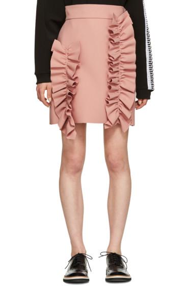 MSGM - Pink Ruffle Miniskirt