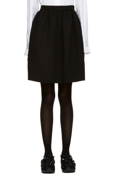 MSGM - Black Circle Miniskirt