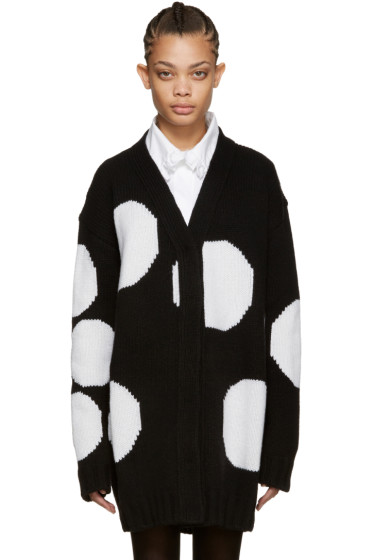 MSGM - Black Polka Dot Cardigan