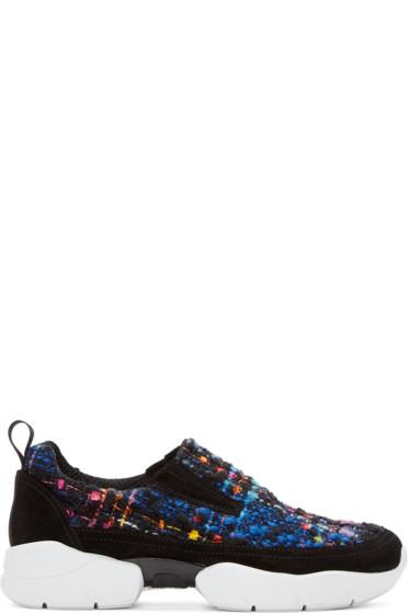MSGM - Multicolor Tweed Bouclé Sneakers