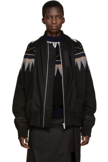 Sacai - Black Knit Ski Jacket