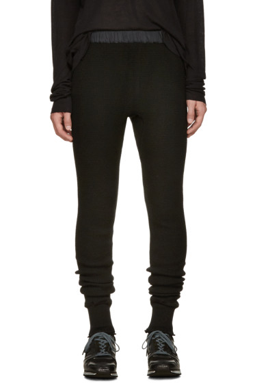 Sacai - Black Wool Lounge Pants
