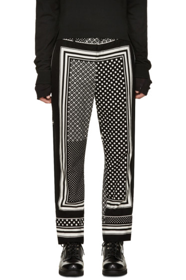 Sacai - Black & White Printed Trousers