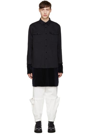 Sacai - Navy Layered Shirt