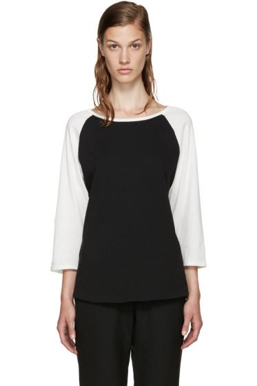6397 - Black & White Baseball T-Shirt