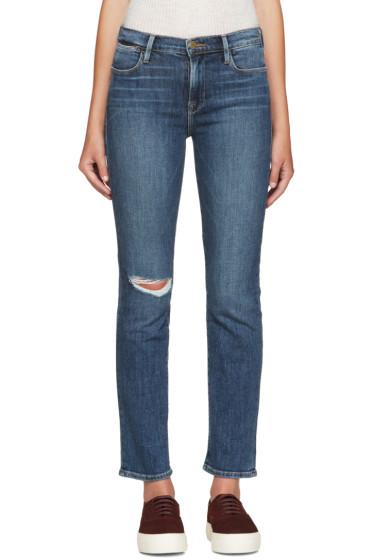 Frame Denim - Blue Le High Straight Jeans