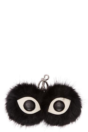 Stella McCartney - Black Faux-Fur Eyes Keychain