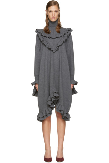 Stella McCartney - Grey Knit Frills Dress