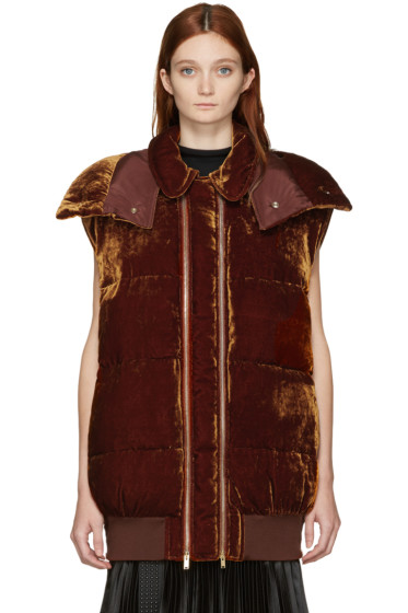 Stella McCartney - Brown Velvet Melissa Vest
