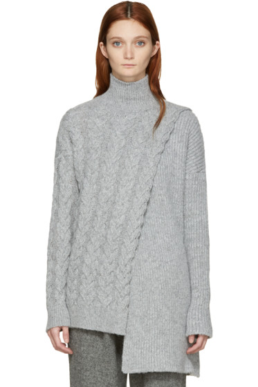 Stella McCartney - Grey Asymmetric Turtleneck