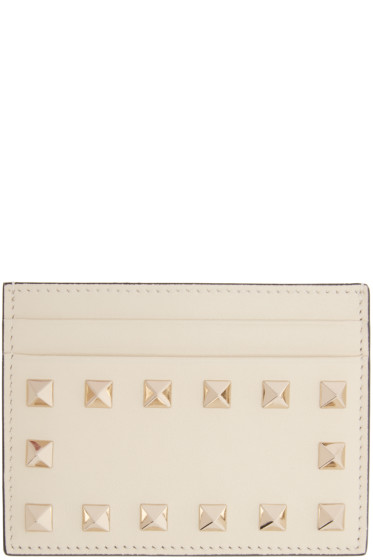 Valentino - Ivory Rockstud Card Holder