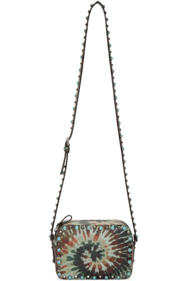 Valentino - Green Tie Dye Stone Rolling Rockstud Bag