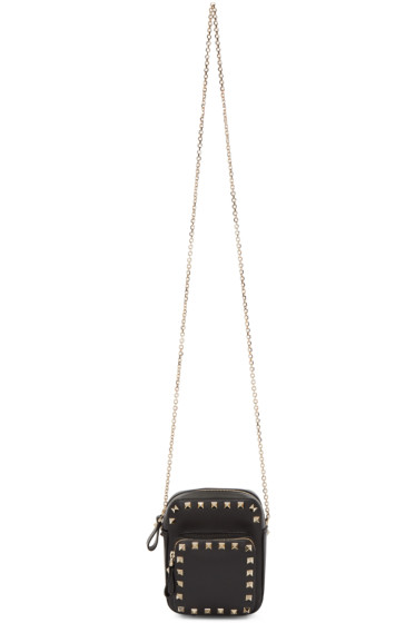Valentino - Black Double Compartment Rockstud Camera Bag
