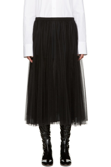 Valentino - Black Tulle Skirt