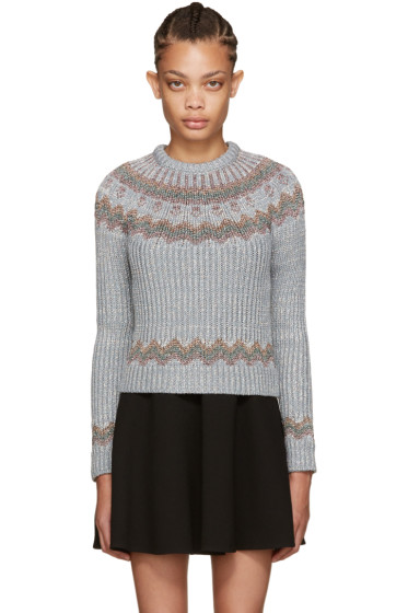 Valentino - Grey Metallic Alpine Sweater