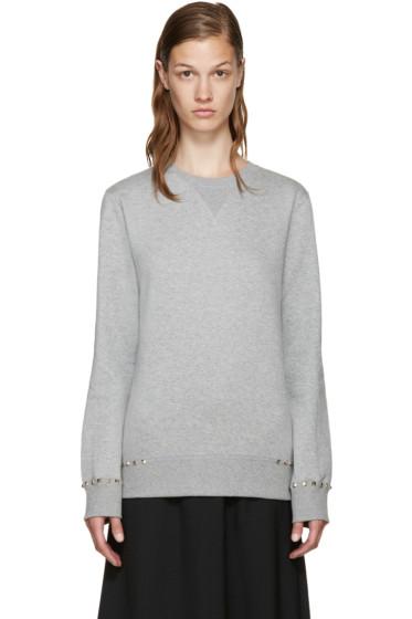 Valentino - Grey Rockstud Untitled Sweatshirt