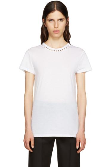 Valentino - White Untitled Rockstud T-Shirt