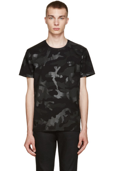 Valentino - Black Camo T-Shirt