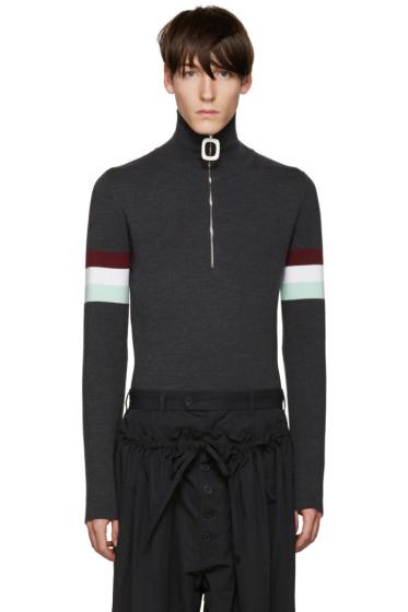 J.W.Anderson - Grey Zip Sweater