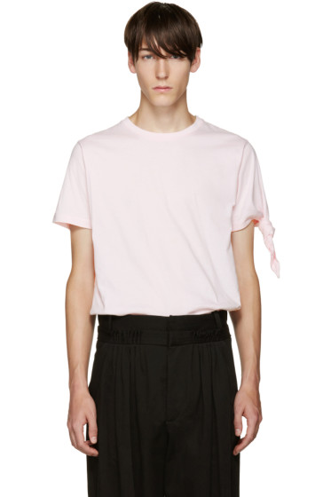 J.W.Anderson - Pink Single Knot T-Shirt