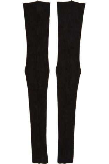 Thamanyah - Black Ribbed Leg Warmers